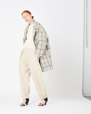 ELOY lined checked coat