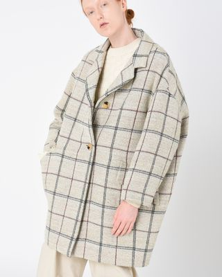 ISABEL MARANT COAT D ELOY lined checked coat r