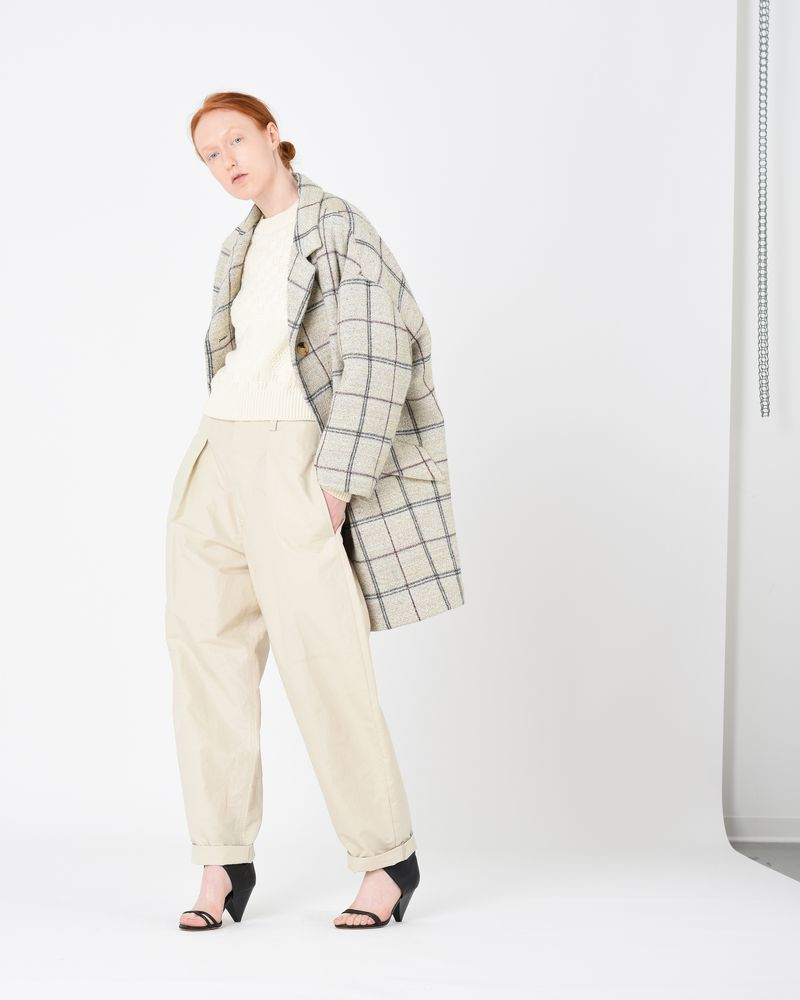 ELOY lined checked coat ISABEL MARANT