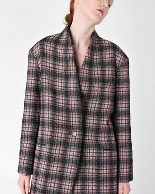 ISABEL MARANT COAT Woman ENES checked coat r