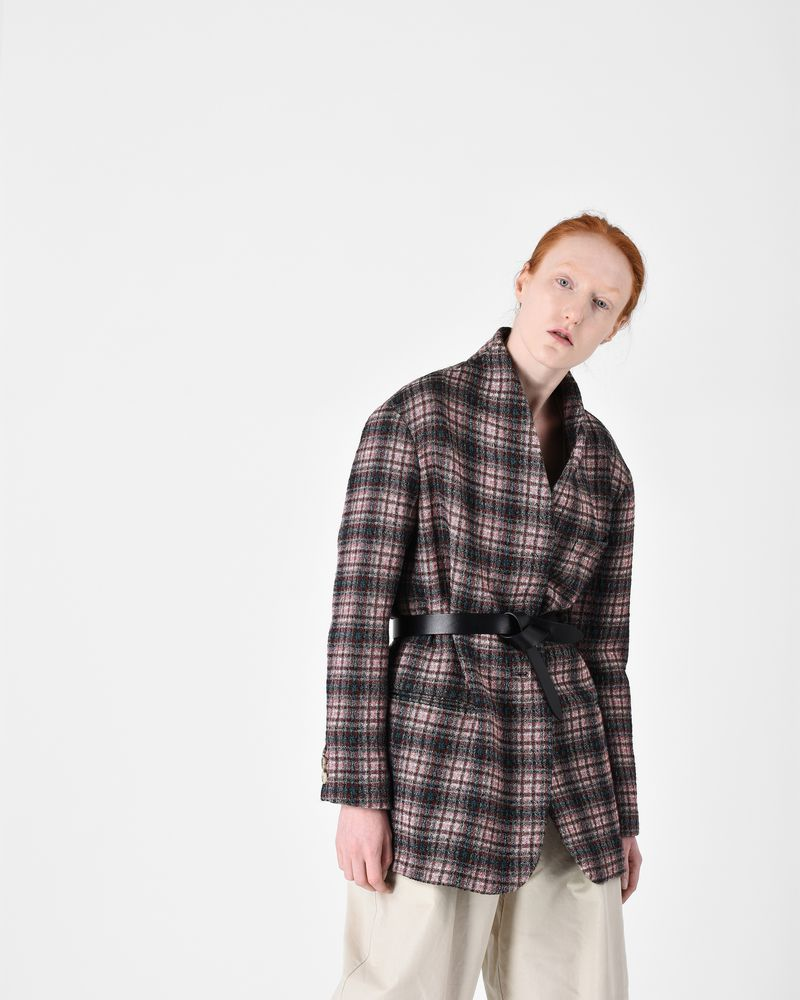 ENES checked coat ISABEL MARANT