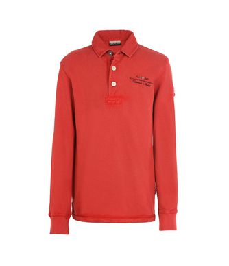 NAPAPIJRI K ELBAS LONG SLEEVES JUNIOR ENFANT POLO MANCHES LONGUES,ROUGE