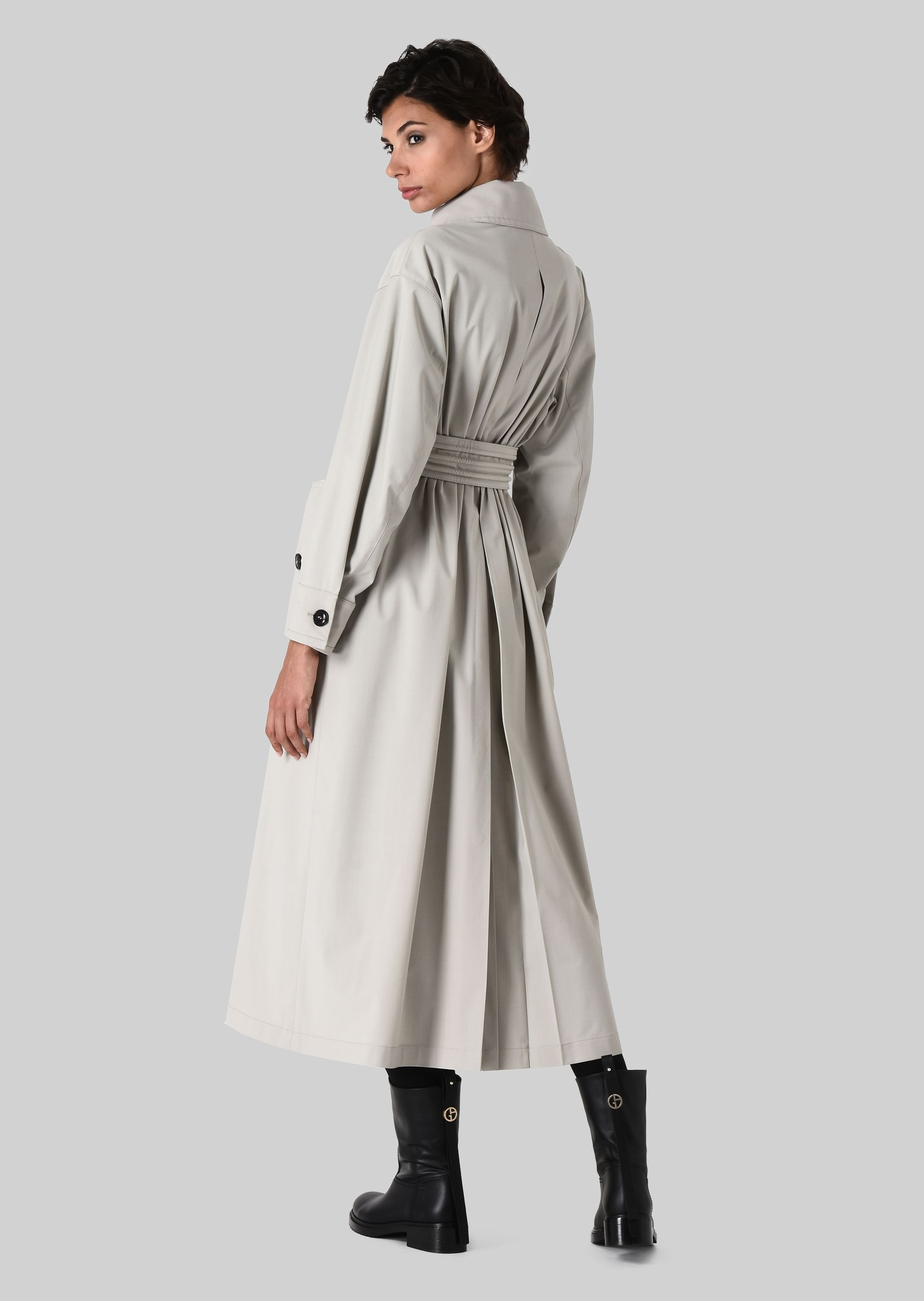 GIORGIO ARMANI DOUBLE-BREASTED TRENCH COAT IN WOOL CLOTH Classic Coat D d