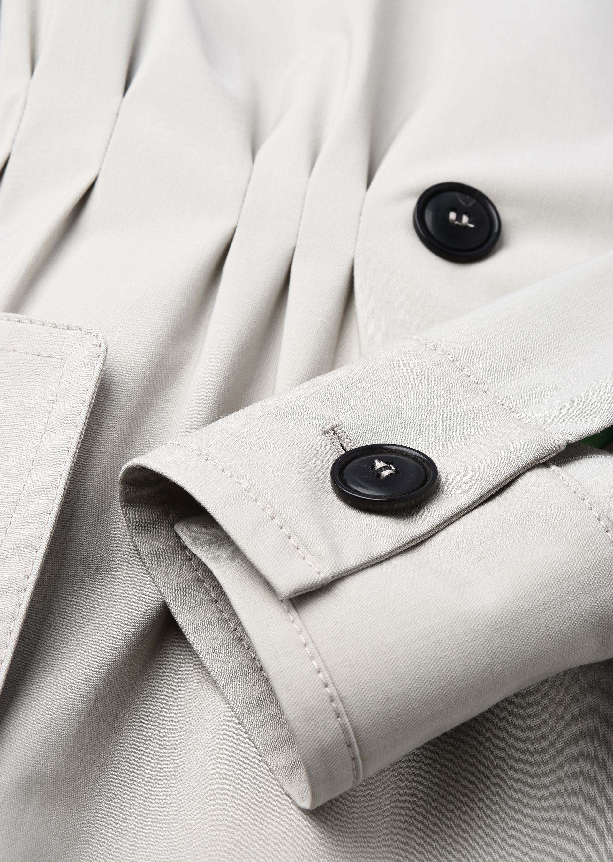 GIORGIO ARMANI DOUBLE-BREASTED TRENCH COAT IN WOOL CLOTH Classic Coat D e