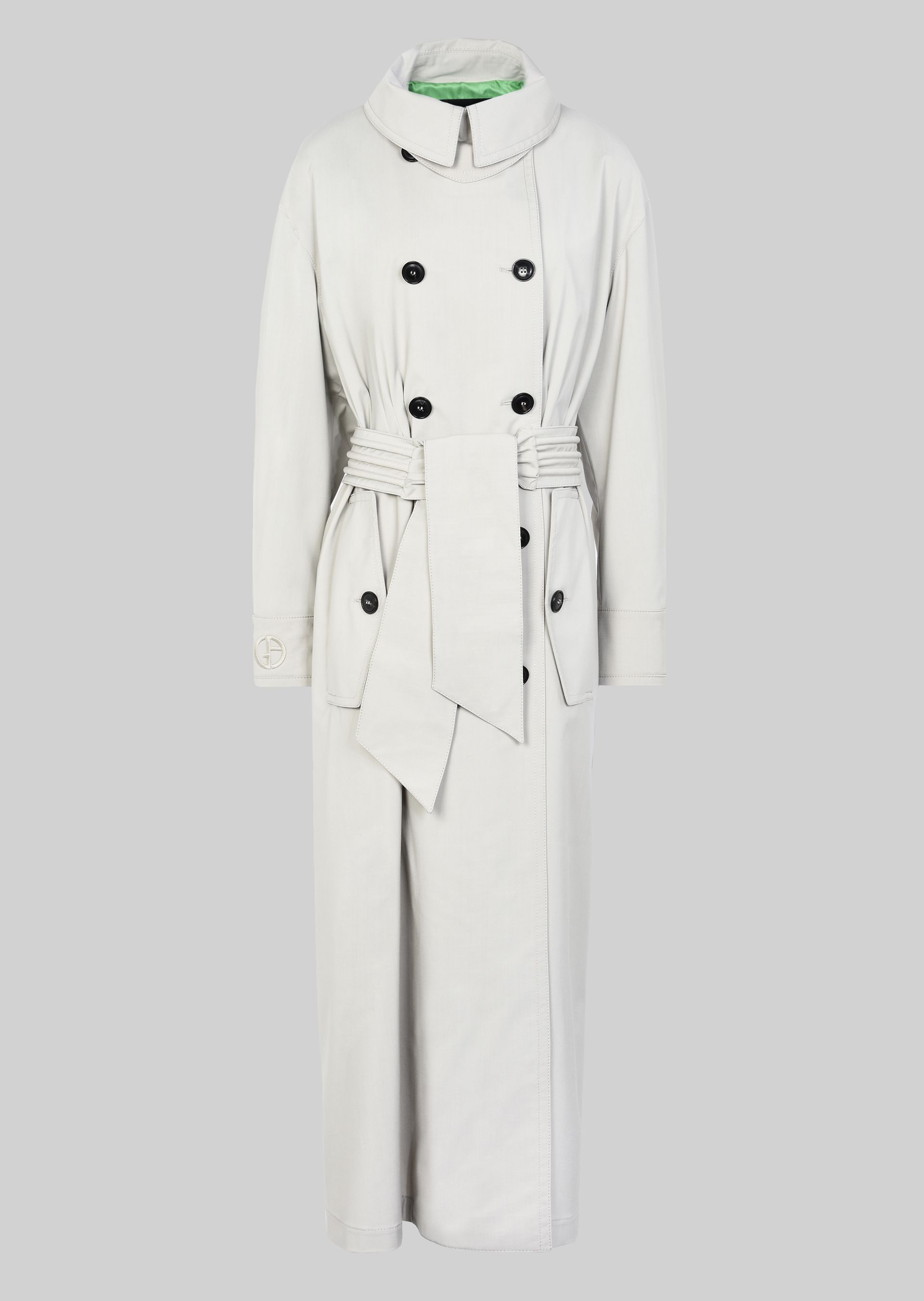 GIORGIO ARMANI DOUBLE-BREASTED TRENCH COAT IN WOOL CLOTH Classic Coat D r