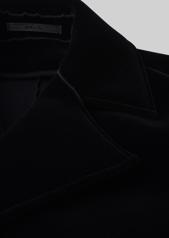 GIORGIO ARMANI DOUBLE-BREASTED COAT IN VELVET Classic Coat U a