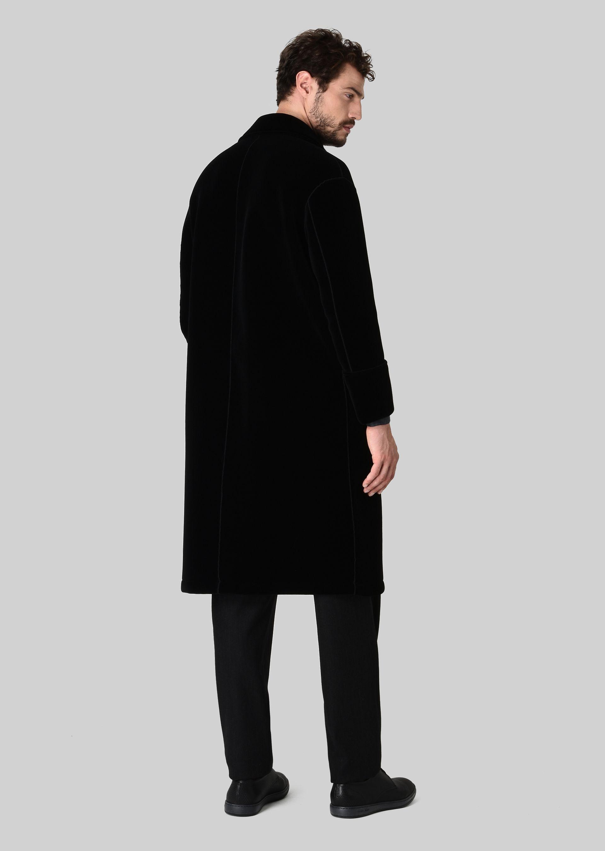 GIORGIO ARMANI DOUBLE-BREASTED COAT IN VELVET Classic Coat U d