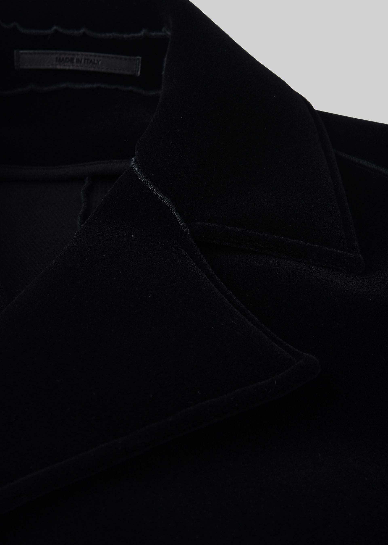 GIORGIO ARMANI DOUBLE-BREASTED COAT IN VELVET Classic Coat U e