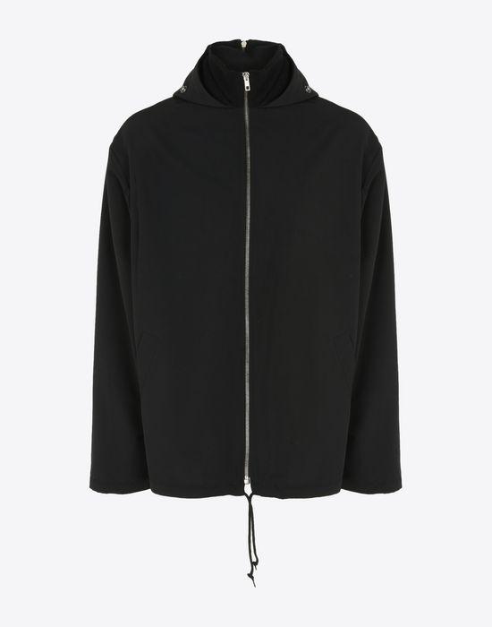maison margiela zipup jacket in technical cotton blend jacket u f