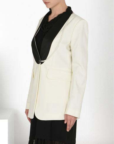 MM6 MAISON MARGIELA Blazer D Twill tuxedo jacket with detachable necklace f