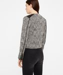 Coated Bouclé Biker Jacket