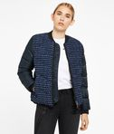 Bouclé Quilted Down Bomber