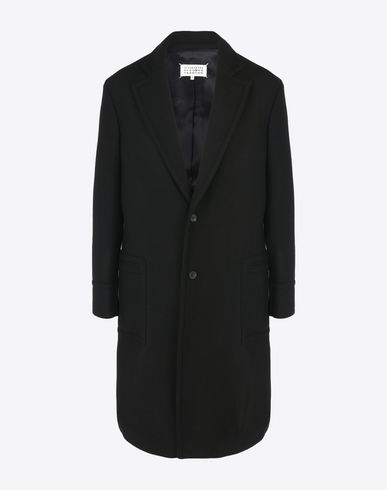 MAISON MARGIELA Coat U Virgin wool blend coat with lapel collar f