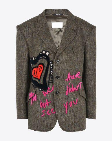 MAISON MARGIELA Embroidered herringbone jacket  Blazer D f