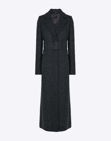MAISON MARGIELA Long tweed coat Coat D f