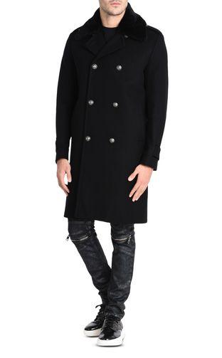 JUST CAVALLI Denim Jacket U Fur-lined denim jacket f