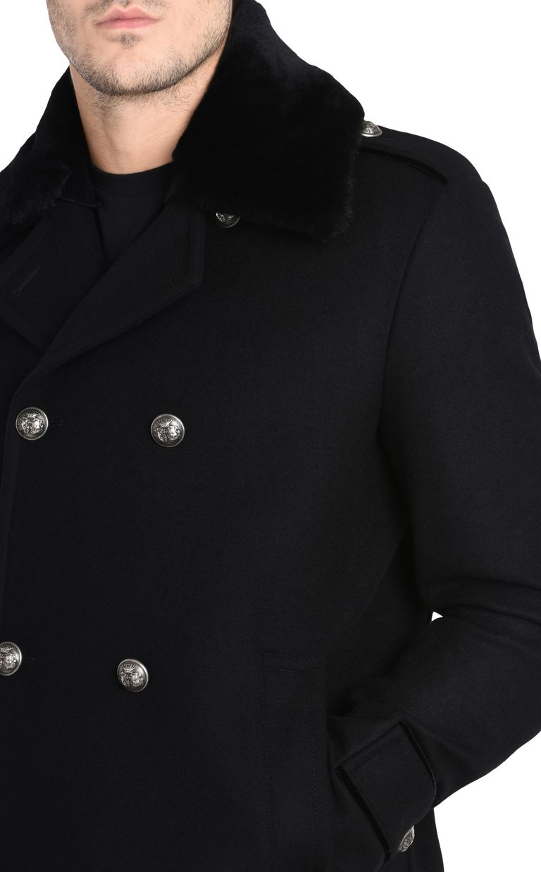 JUST CAVALLI Double-breasted military-style coat Coat U e