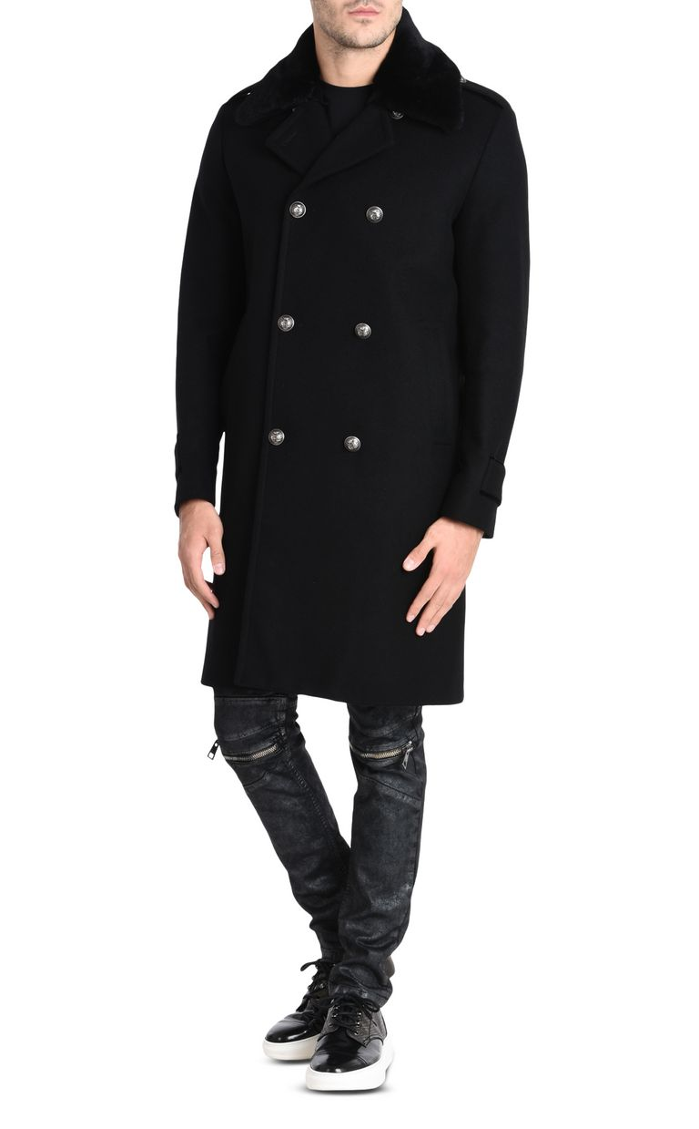 JUST CAVALLI Double-breasted military-style coat Coat U f