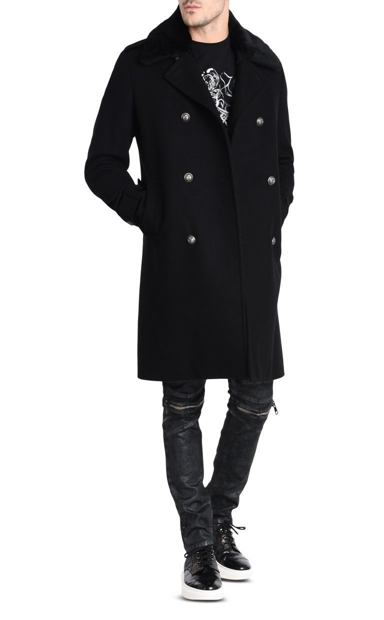 JUST CAVALLI Double-breasted military-style coat Coat U r