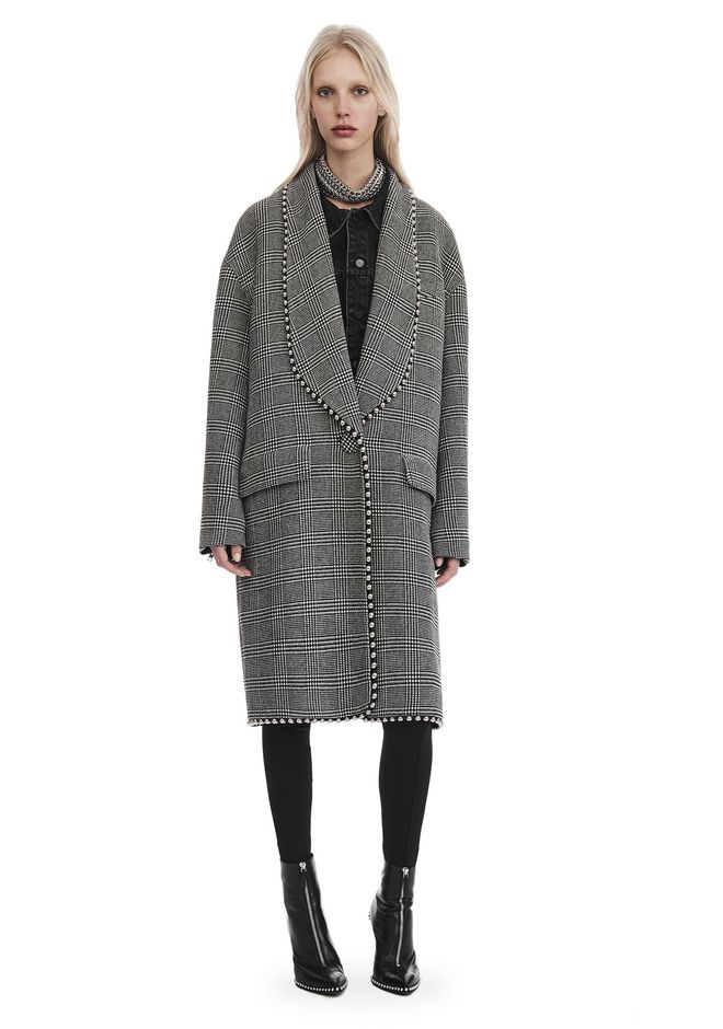 ALEXANDER WANG JACKETS AND OUTERWEAR  SHAWL COLLAR COAT WITH BIKER SLEEVES