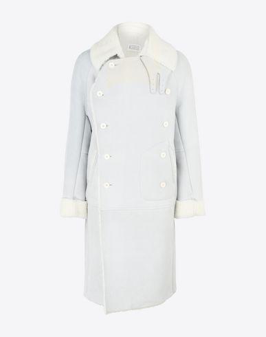 MAISON MARGIELA Coat Man Double breasted shearling coat  f