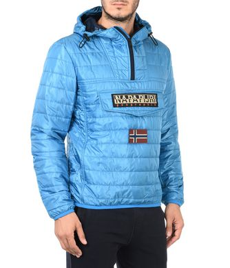 NAPAPIJRI RAINBOW MAN SHORT JACKET,CARIBBEAN BLUE