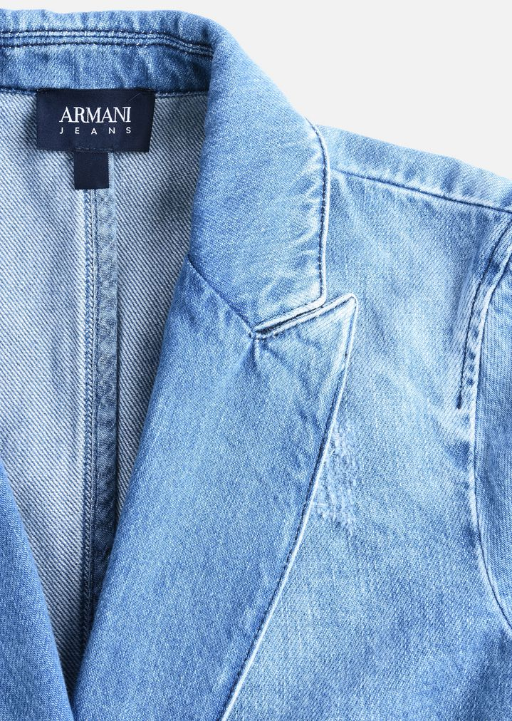 Afholte STONE WASH DENIM JACKET | Woman | Emporio Armani MP-87