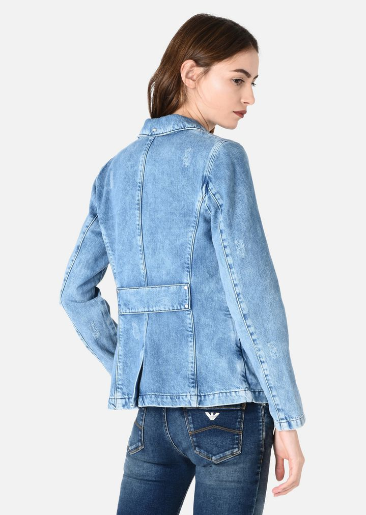 Fabriksnye STONE WASH DENIM JACKET | Woman | Emporio Armani EO-36