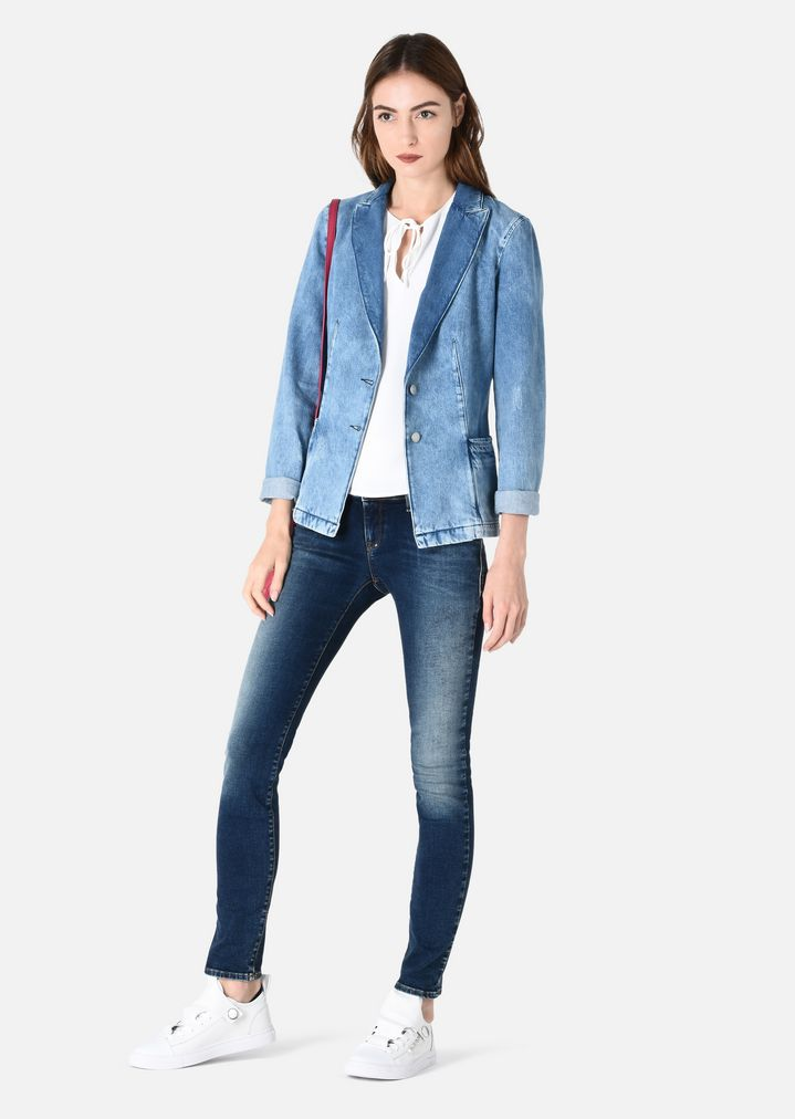 Rask STONE WASH DENIM JACKET | Woman | Emporio Armani ZK-34