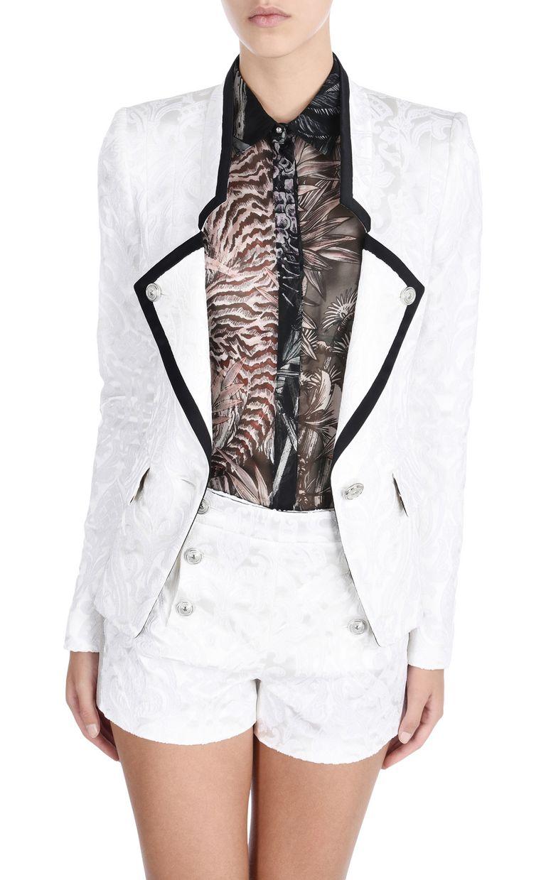 JUST CAVALLI Flower Jacquard formal jacket Blazer D f