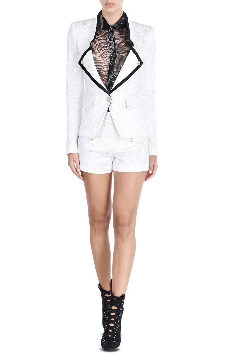 JUST CAVALLI Flower Jacquard formal jacket Blazer D r