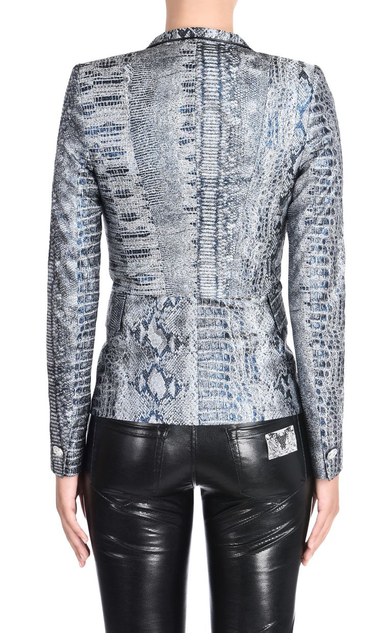 JUST CAVALLI Formal Jacquard Crocco jacket Blazer [*** pickupInStoreShipping_info ***] d