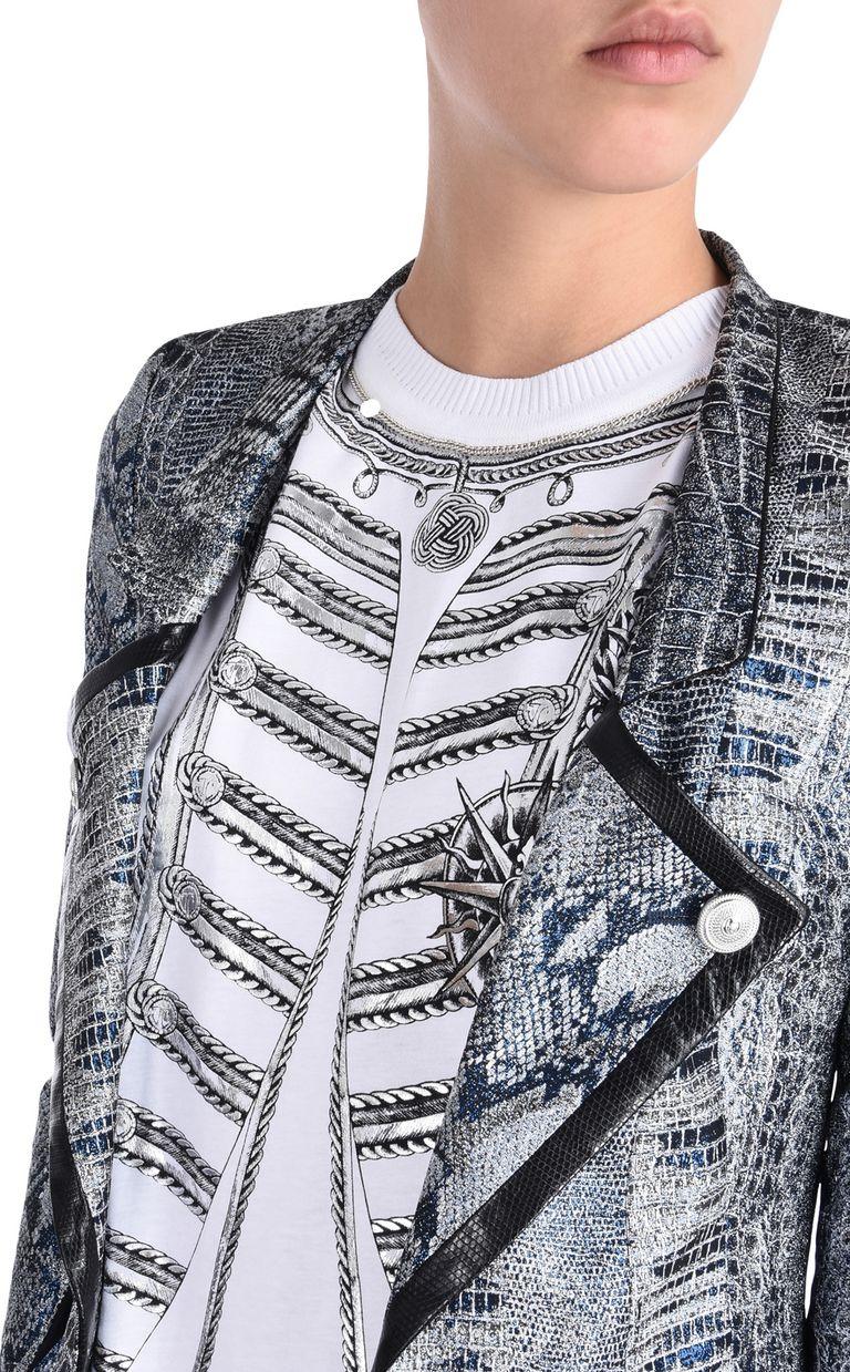 JUST CAVALLI Formal Jacquard Crocco jacket Blazer [*** pickupInStoreShipping_info ***] e