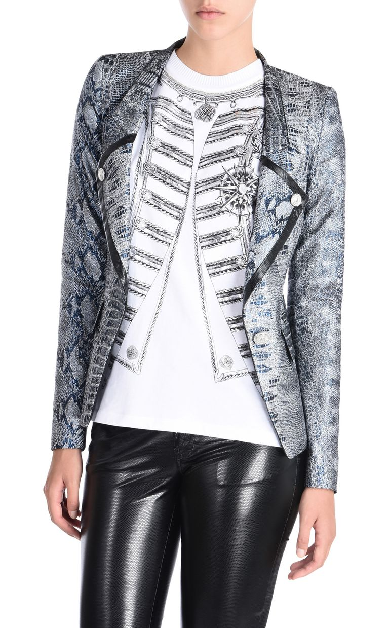 JUST CAVALLI Formal Jacquard Crocco jacket Blazer [*** pickupInStoreShipping_info ***] f