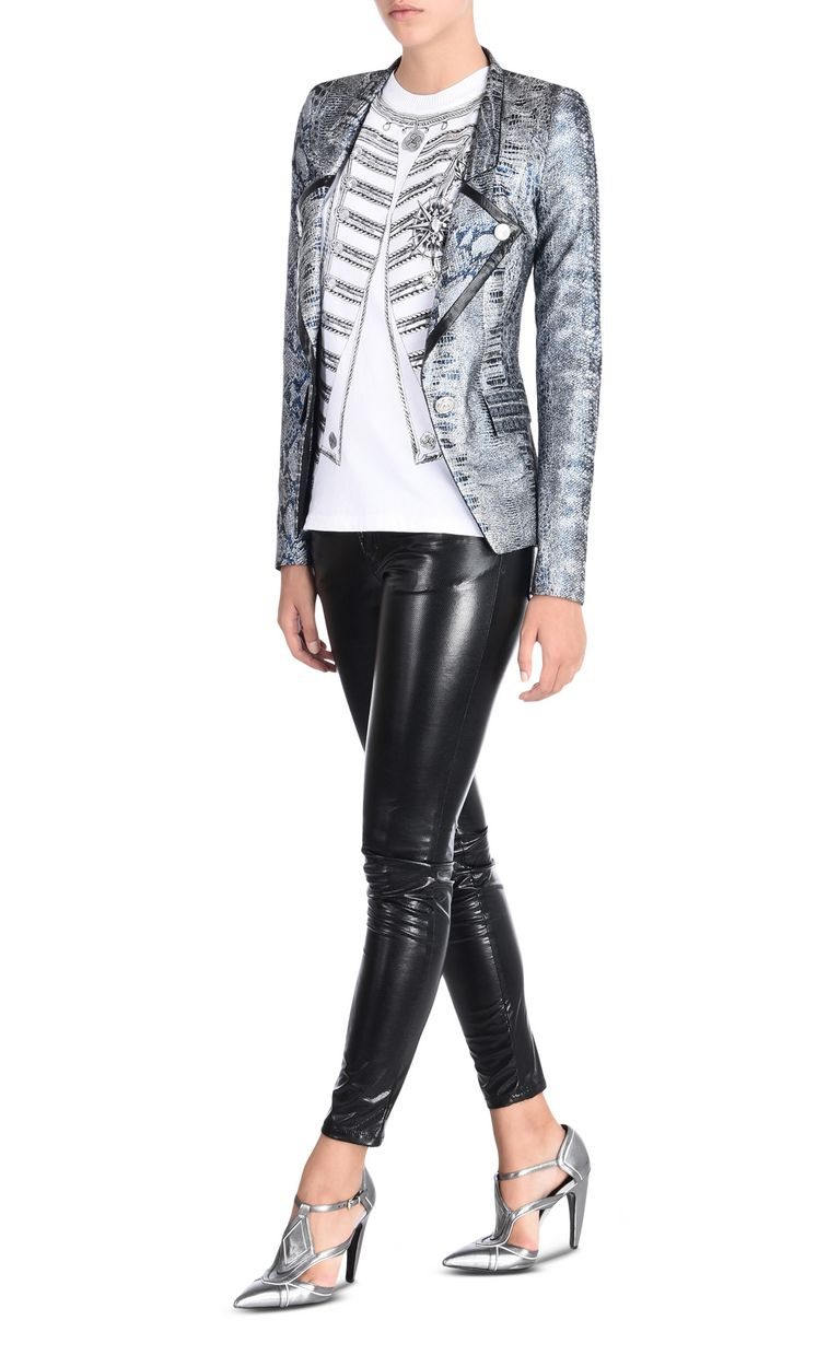 JUST CAVALLI Formal Jacquard Crocco jacket Blazer [*** pickupInStoreShipping_info ***] r