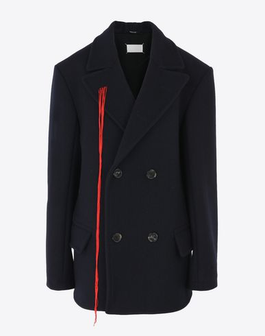 MAISON MARGIELA Double breasted wool car coat Jacket D f