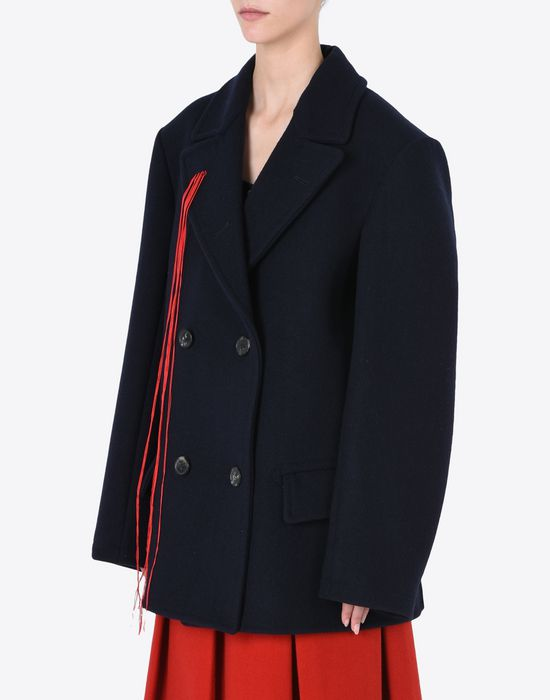 Maison Margiela Double Breasted Wool Car Coat Women