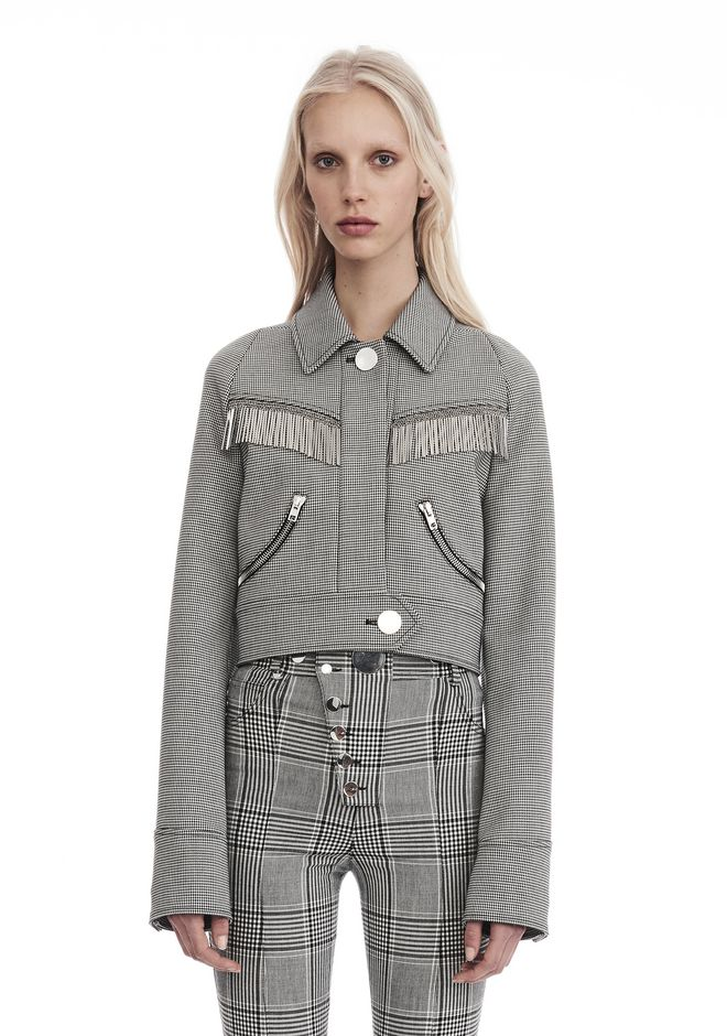 ALEXANDER WANG new-arrivals CROPPED CHECKERED JACKET
