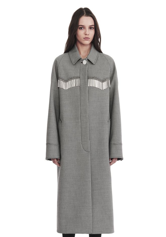 ALEXANDER WANG new-arrivals-ready-to-wear-woman CHECKERED CAR COAT