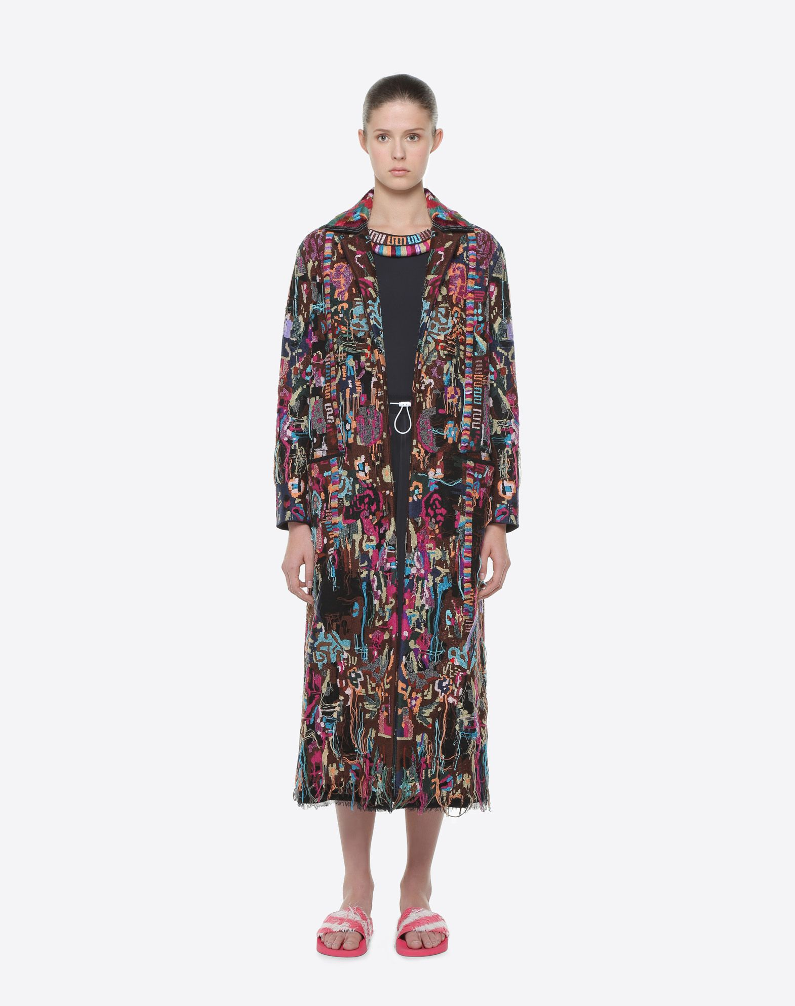 VALENTINO Embroidered coat COAT D r