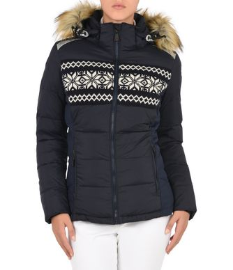 NAPAPIJRI CHERRY ECO FUR WOMAN SKI JACKET,DARK BLUE