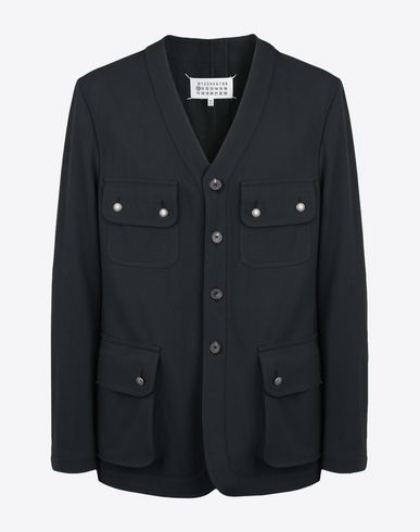 MAISON MARGIELA Collarless military jacket   Blazer U f