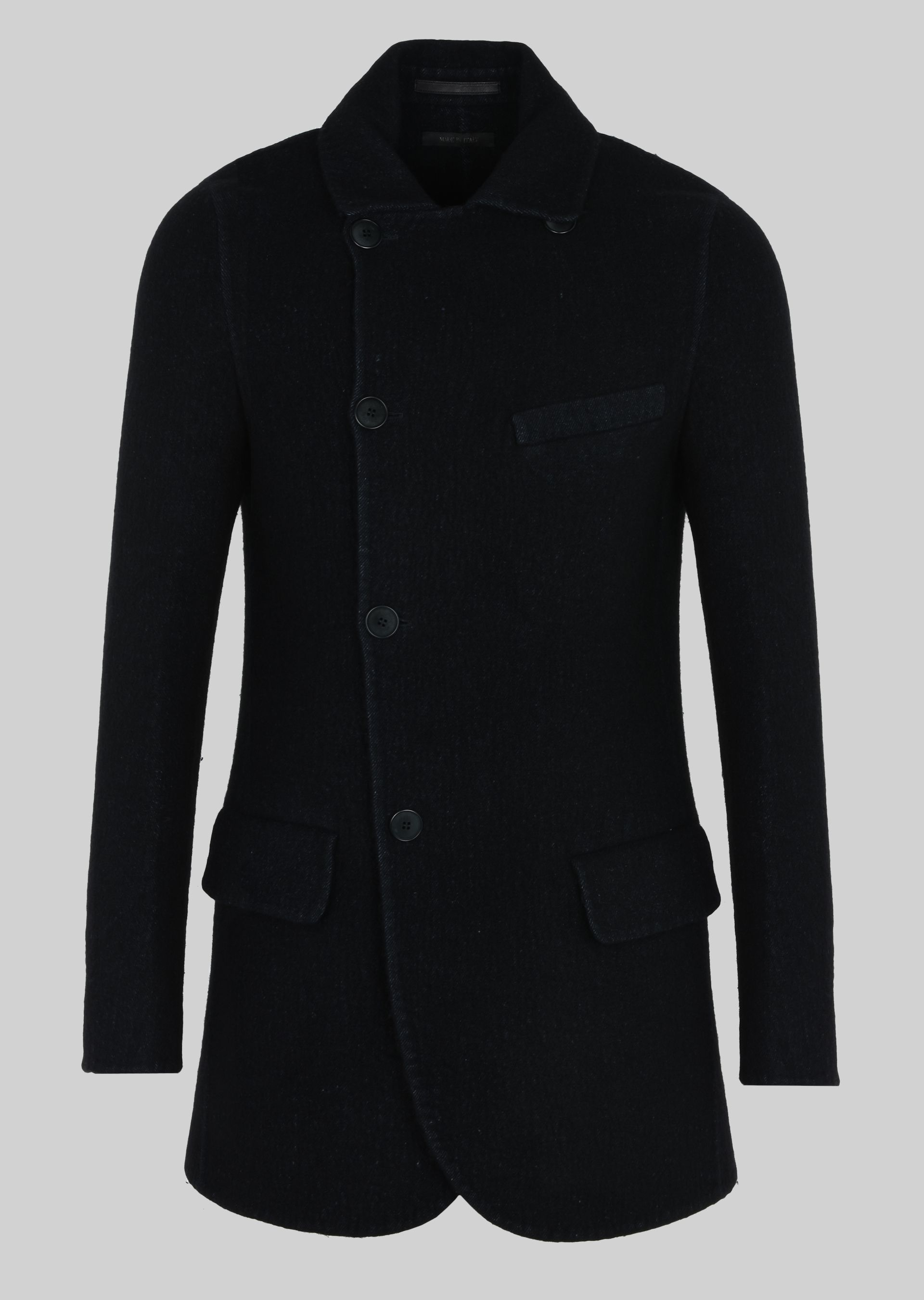 PEA COAT IN DOUBLE WOOL AND LINEN FABRIC for Men |