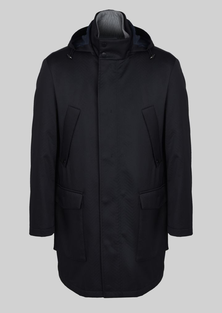brand new most popular meet PARKA IN TECHNICAL FABRIC | Man | Giorgio Armani