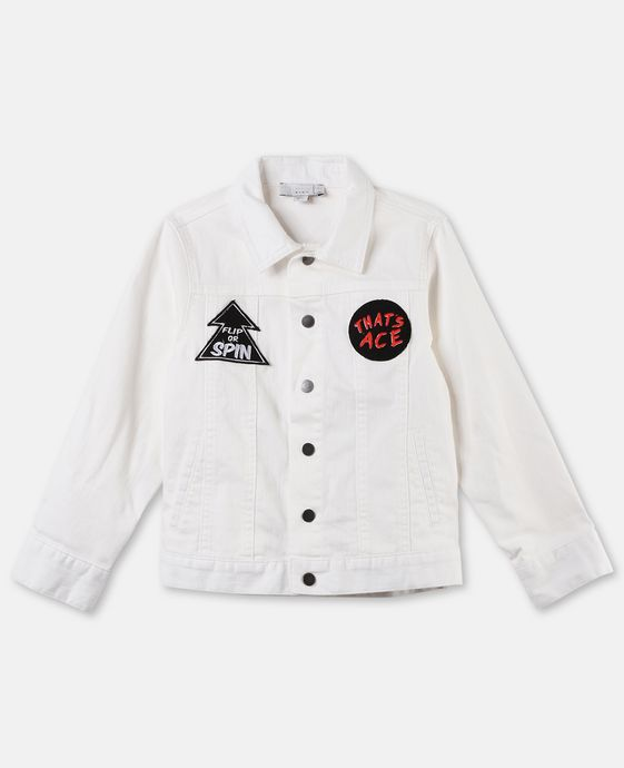 Nico White Denim Jacket