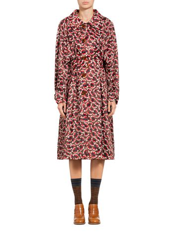 Marni Duster coat in canvas Metropolis print Woman