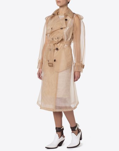 MAISON MARGIELA Raincoat Woman Nude crin trenchcoat f