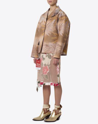 MAISON MARGIELA Mid-length jacket Woman Hawaiian print and check jacket f