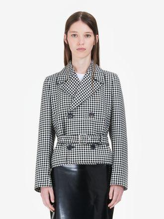 Gingham Belted Jacket