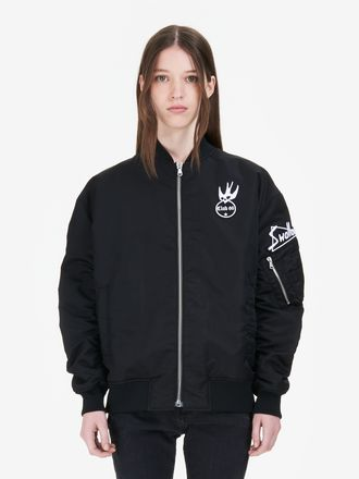 Giacca Bomber con Badge Swallow